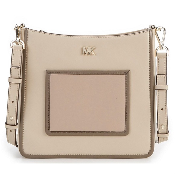 Michael Kors Gloria oatmeal swing pack crossbody NWT